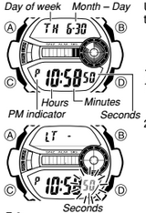 How to set time on G-Shock GD-200