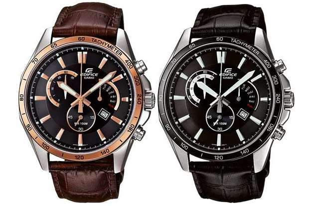 Edifice EFR-510L-1AVEF with Elegant Leather Band-3