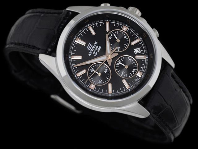 Edifice EFR-527L-1A with Leather Band-1