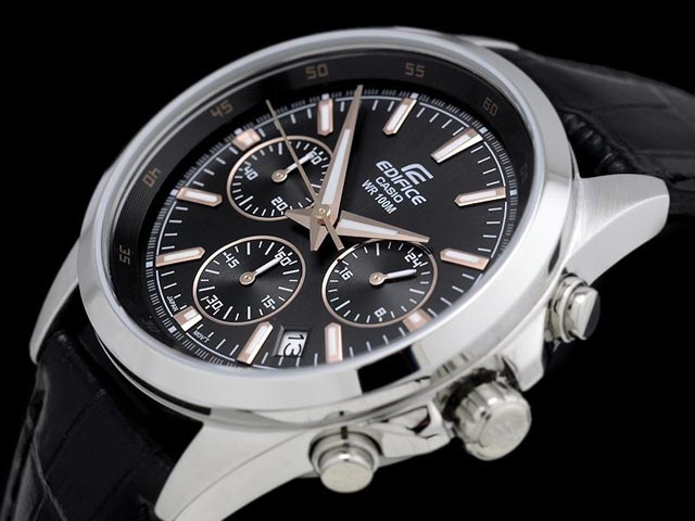 Edifice EFR-527L-1A with Leather Band-2