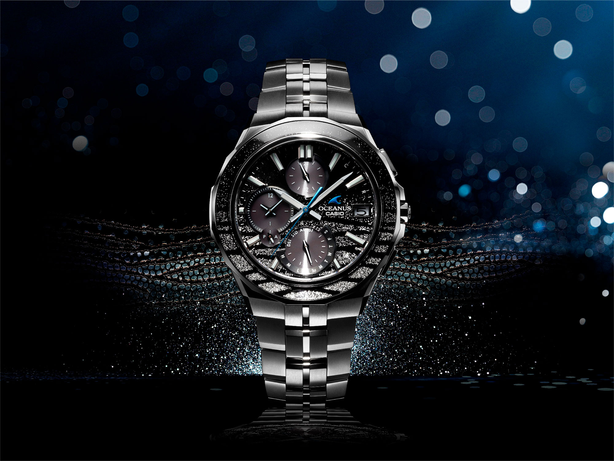 Oceanus OCW-S5000ME — high-quality finish and a beautiful form